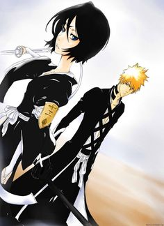 Anime/manga: Bleach Characters: Rukia and Ichigo, this is gonna be our board cover for now. Anyone have any pins they want for the cover? Bleach Ichigo And Rukia, Kuchiki Rukia, Bleach Manga, Bleach Drawing, Bleach Pictures, Bleach Couples, Bleach Fanart, Bleach Characters, Dc Comics