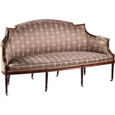 1stdibs.com | A Fine George III Mahogany Sofa / Canape in the French Manner