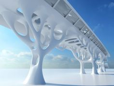 Luca Frattari used solidThinking Inspire to create an optimized architectural structure with an organic design.
