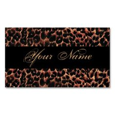Leopard Print Elegance Business Card