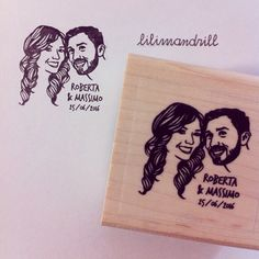 Custom Portrait Stamp @lilimandrill www.lilimandrill.fr #etsy #couples portraits #EtsyGifts #EtsySuccess #etsywedding #wedding #mariage #bride #diy #couple #stamp #rubberstamp #shopsmall #handmade #gift #weddinggift #invitations #weddinginvitations