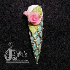 Acrylic 5D with gel by Jaelop - Nail Art Gallery nailartgallery.nailsmag.com by Nails Magazine www.nailsmag.com #nailart