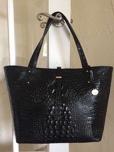 Brahmin All Day Tote Black Melbourne Leather XL Bag #Brahmin #TotesShoppers