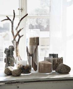 Glass sand stones