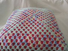 Pastel Crochet Pillow Covered Throw Pillow Vintage Home Decor