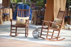 "cute for the brick patio...and you could get those burlap ""Mr"" and ""Mrs"" pillows"