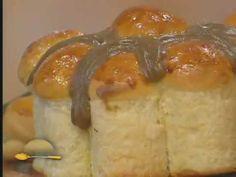 Pão doce com creme de café