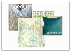 How to mix patterned throw pillows