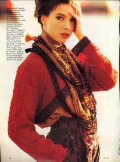 Romeo Gigli in Elle early 1900's. I was so inspired by the beading and embellishment. Gypsy meets New Look.