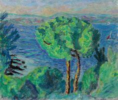 Pierre Bonnard (1867-1947)Le double pin or Les deux pins (Environs de Cannes)