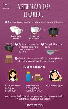 Tratamientos de café para el pelo: más suave, sedoso y brillante, conoce más aquí... #belleza #tratamientoscabello