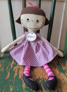 Samantha...a handmade doll - love her stockings