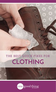 Clothing catastrophes and wardrobe malfunctions can quickly ruin your day. Be prepared by knowing these 25 quick and easy fixes!