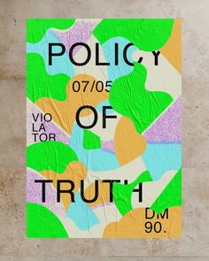 """Affiche """"Policy of truth"""" - tribute to Dépêche Mode studio ACETONE Studio, Depeche Mode, Page Layout, Event Posters, Study"""