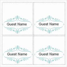 14 Best Place Card Template Images Place Card Template
