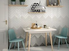 The Essentials- Ombre Textured Subway Tiles: swedishmink, ShoreThing, OysterBay, WhisperWhite, IvoryCoast, VentoGrey