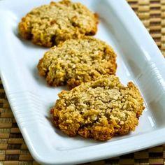 Low-Sugar Gluten-Free Coconut Almond Macaroon Cookies found on KalynsKitchen.com