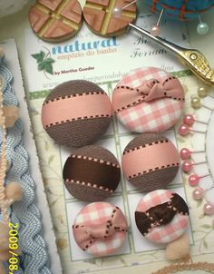 Not your average covered button...love the inspiration! I'm going to make hair clips with these!