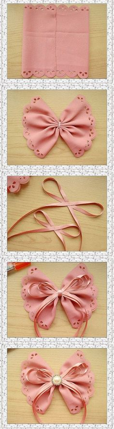 Discover thousands of images about DIY & Crafts Tutorials Fabric Patterns, Sewing Patterns, Bow Making Tutorials, Lola Hair, Sewing Stuffed Animals, Diy Hair Bows, Denim And Lace, Head Pins, Girls Hair Accessories