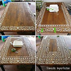 Great way to renovate old furniture! 8-Inlay-stencil-tutorial.jpg