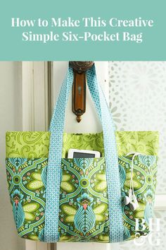 Free Bag Pattern and Tutorial - Six Pocket Bag Sewing Hacks, Sewing Tutorials, Sewing Crafts, Sewing Tips, Bag Tutorials, Bag Sewing, Love Sewing, Illustration Tutorial, Leftover Fabric