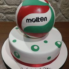 Volleyball Birthday Cakes, Volleyball Party, Boy Birthday, Volleyball Players, Molten Volleyball, Molten Cake, Sugar Cake, Cake Shop, Cake Creations