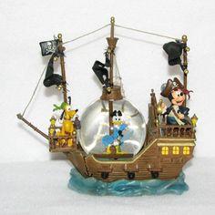 Your WDW Store - Disney Snow Globe - Black Pearl Pirate Ship ...