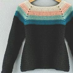 Mandala Yarn, Crochet Mandala, Crochet Clothes, Crochet Sweaters, Crochet Ideas, Sweaters For Women, Pullover, Hoodies, Do It Yourself