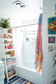 When my husband and I were on the hunt for a home last year, one of my must-haves was a spacious master bathroom. You know, the whole nine yards – a huge soaking tub, plenty of storage, dual vanities. So if you knocked on the door of our sweet beach-town bungalow today and asked for a tour, you'd likely be surprised to find a master bathroom so slight that my husband and I can barely fit in it together. (In its defense, it does have a massive tub.)
