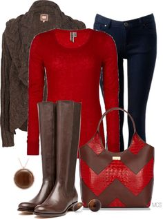 red and brown for the holidays...