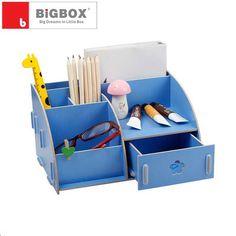 Creative desk wooden DIY cosmetic box