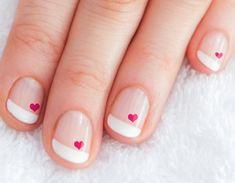 Pink Hearts Nail Art