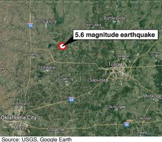 The quake was centered near Pawnee, where officials were assessing damage. The…