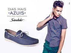 Por favor, dias mais azuis. #Sândalo #Style #Men #Fashion #Blue