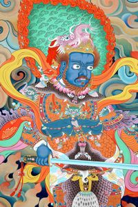 Sacred Realms: Temple murals by Shashi Dhoj Tulachand Great Works Of Art, Tibetan Art, Buddhist Monk, Asian Art, Buddhism, 18th Century, Mustang Nepal, Museum, Vibrant