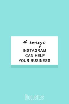 Let's be honest, we love brands that have a killer Instagram! But how can you make sure YOUR business is using it to the best abilities? We're breaking down '4 Ways Instagram Can Help Your Business' for you to check off your list or give you that needed boost of what to do next.