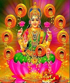 Lakshmi Photos, Lakshmi Images, Divine Mother, Goddess Lakshmi, Indian Home Decor, Gods And Goddesses, Ganesh, Deities