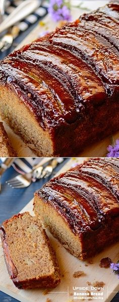 "The Best Ever Upside Down Banana Bread ~ Super moist and beyond scrumptious! ~ via this blog, ""From Brazil to You""."