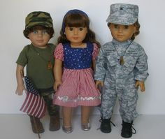Charity Auctions! Check out this great Military Collection to fit your 18 inch american girl or similar doll!