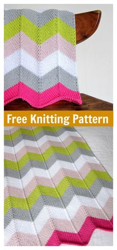 Chevron Baby Blanket Free Knitting Pattern #freeknittingpattern