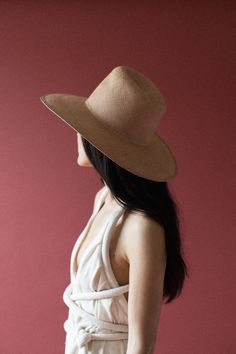 Clyde Pinch Panama Hat in Nude | Oroboro Store