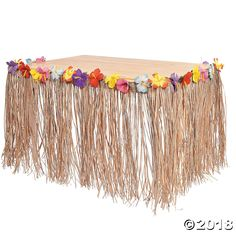 Dress up your luau party with a festive Hibiscus Table Skirt. These Luau and Hawaiian party decorations add tropical flair to your island celebration. Hawaii Birthday Party, Moana Birthday Party Theme, Aloha Party, Hawaiian Luau Party, Hawaiian Birthday, Tropical Party, Birthday Parties, Hawaiin Party Ideas, Hawaiin Theme Party