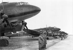 Focke-Wulf Fw 200 Condors.  Saw service with the Luftwaffe as long-range reconnaissance and anti-shipping/maritime patrol bomber