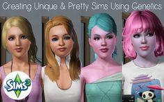 Sims 3 Tutorial - Creating Unique & Pretty sims using genetics