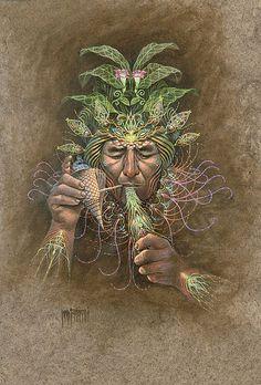 Visionary artwork of Luis Tamani. Psychadelic Art, Psy Art, Mystique, Visionary Art, Sacred Art, Trippy, Oeuvre D'art, Illustration, Fantasy Art