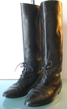 Vintage Made In Spain Leather Riding Boots Size 7.5B by TheOldBagOnline on Etsy