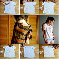 Do you have some old tees that are sitting in your wardrobe for a long time? Here's a super easy DIY project to refashion your basic tee into a stylish one. There is no need to sew, so you can design yourself a new tee within a few steps. The …