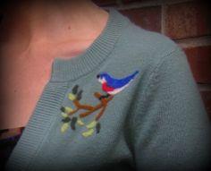 needle felted sweater