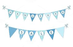 Hanukkah sale bunting by All Cute Stuff on @creativemarket