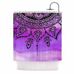 "Li Zamperini ""Lilac Mandala"" Lavender Purple Shower Curtain"